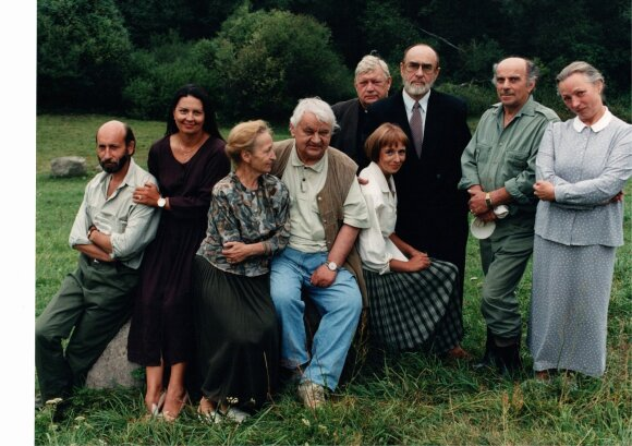"""Serialo """"Giminės"""" aktoriai (Martyno Vidzbelio nuotr.)"""