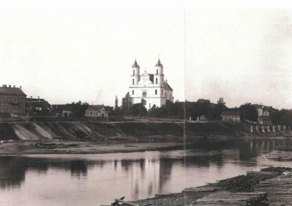 Vaizdas nuo dešiniojo Neries kranto, apie 1896 m.