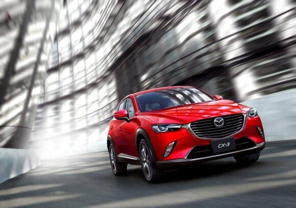 """Geriausiai įvertinta """"Mazda CX-3"""""""