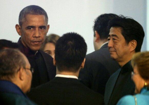 Barackas Obama, Shinzo Abe