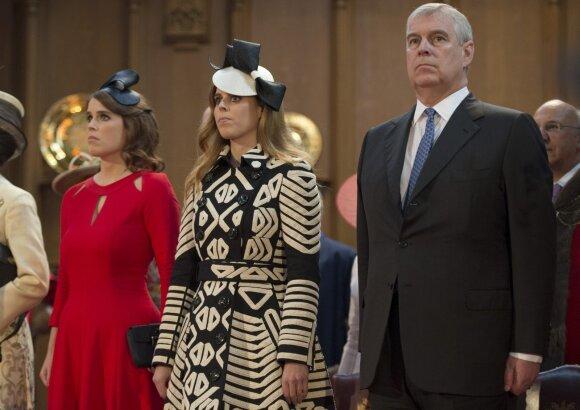 Princas Andrew su dukromis Eugenie ir Beatrice