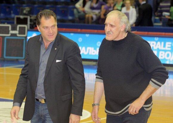 Arvydas Sabonis ir Vladimiras Tkačenka