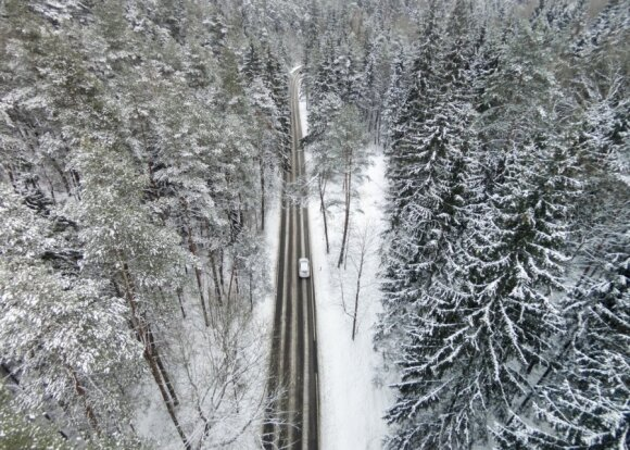 Photographer gives drone's-eye view of winter in Lithuania