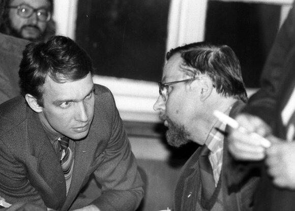 Arvydas Juozaitis ir Vytautas Landsbergis