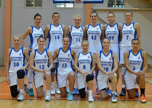"Maskvos ""Dynamo"" krepšininkės (EEWBL nuotr.)"