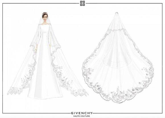 Meghan Markle vestuvinę suknelę kūrė Givenchy