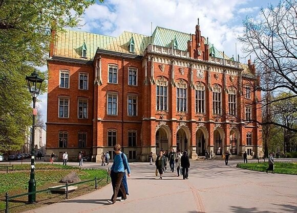 Vytis puošia Collegium Novum pastatą
