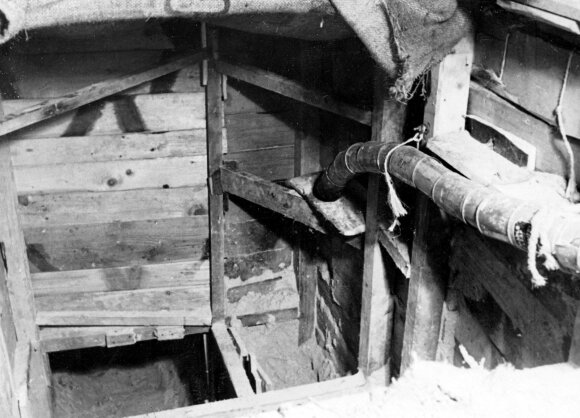 """Pabėgimo tunelis iš """"Stalag Luft III"""" karo belaisvių stovyklos"""