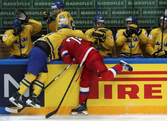 Ledo ritulys: Rusija - Švedija