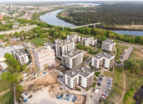 Kaune baigtas vystyti populiarus gyvenamųjų namų projektas