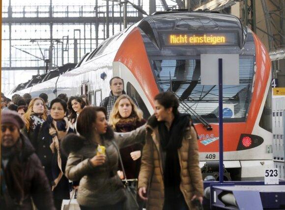 Vokietijos traukinių mašinistų streikas