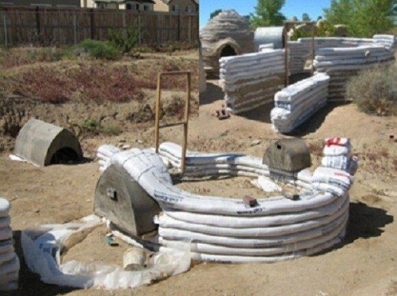 Namas, kurio karkasas molio maišai/ G. Klimavičiaus pristatymo skaidrės