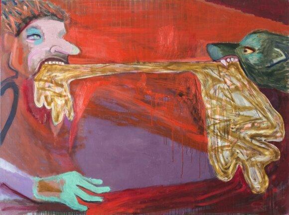 Dailininkas Raimondas Gailiūnas apie savo parodą: labai skanu avinžirniai su kanapių sėklomis