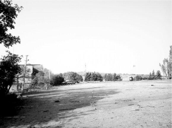 Vaizdas į Savur Mohylą nuo žemutinės aikštelės. (M. Muzyka)