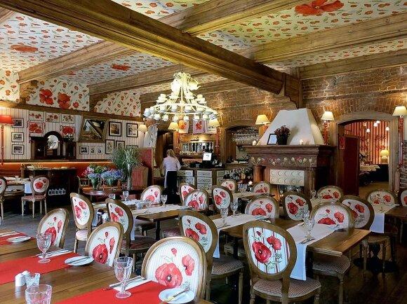 "Garsios restoranų savininkės Magdos Gessler restorane ""Polka"" – spalvingas interjeras"