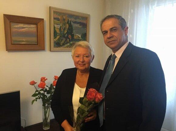 Auksutė Ramanauskaitė-Skokauskienė ir Amiras Maimonas