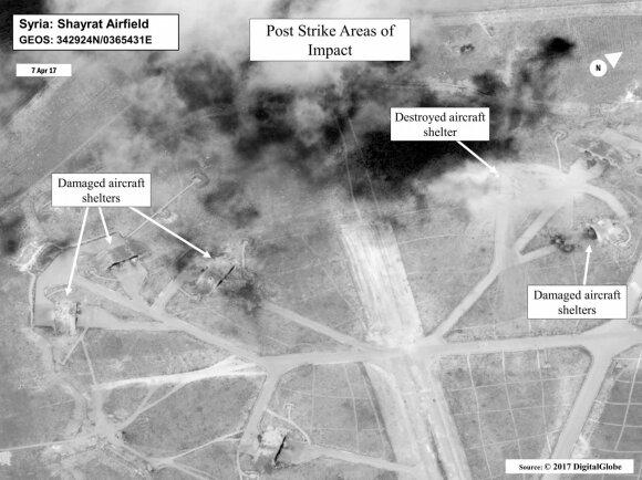 JAV smūgiai Sirijoje 2017 metais