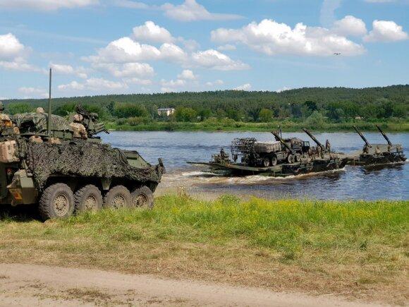 JAV pratybos Baltijos šalyse vėl sulaukė Kremliaus dėmesio: išbūrė neišvengiamą NATO pralaimėjimą
