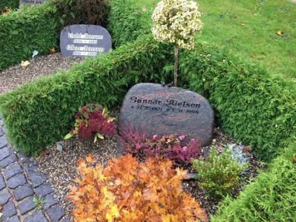 Šį kapą puošia nedidelis klevelis, viržiai, buksmedis, vilkpupė ir vijoklinis ožekšnis, įskiepytas į stiebą.