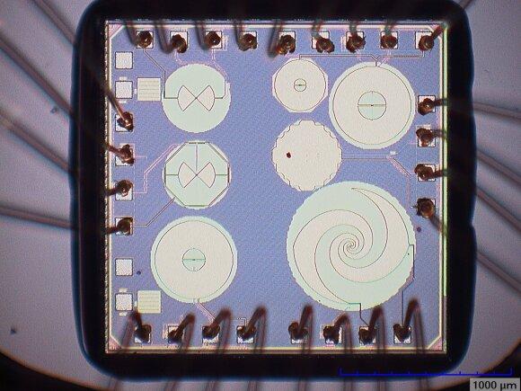 Mikroskopu daryta terahercinių bangų jutiklių nuotrauka