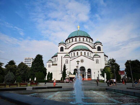 Belgrado cerkvė - viena didžiausių cerkvių pasaulyje