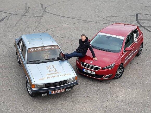 """Vitoldas Milius nusprendė kelionėje palyginti 33 metų """"Peugeot 305"""" ir naują """"Peugeot 308"""""""