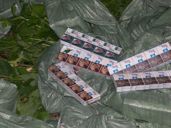 Cigaretės liko Lietuvoje, kontrabandininkas paspruko į Baltarusiją