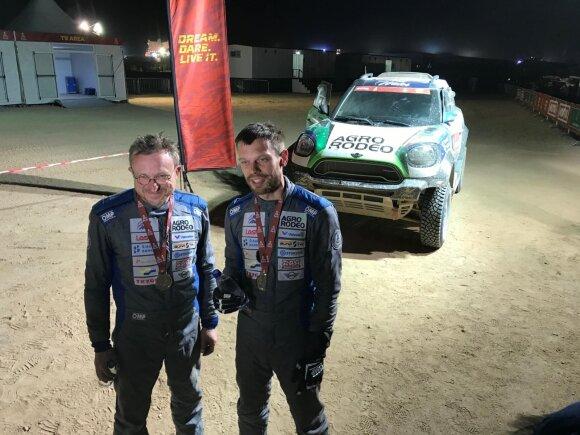 Vaidotas Žala ir Saulius Jurgelėnas 2020 m. Dakaro ralio finiše