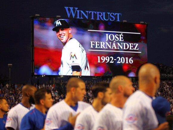 Pagerbiamas Jose Fernandezo atminimas
