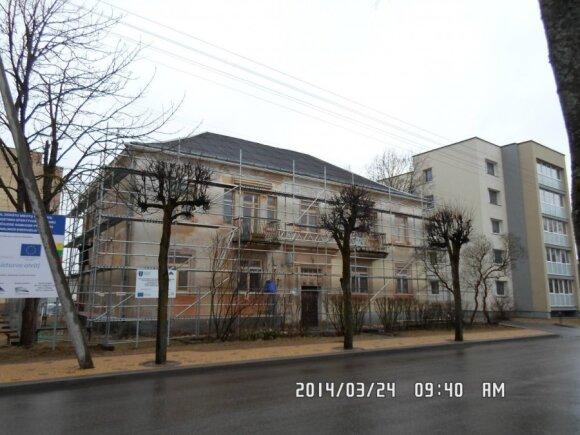 Šitaip Atgimimo g. 29 namas atrodė renovacijos metu