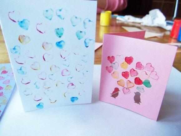 Kūrybinis darbelis, skirtas Valentino dienai