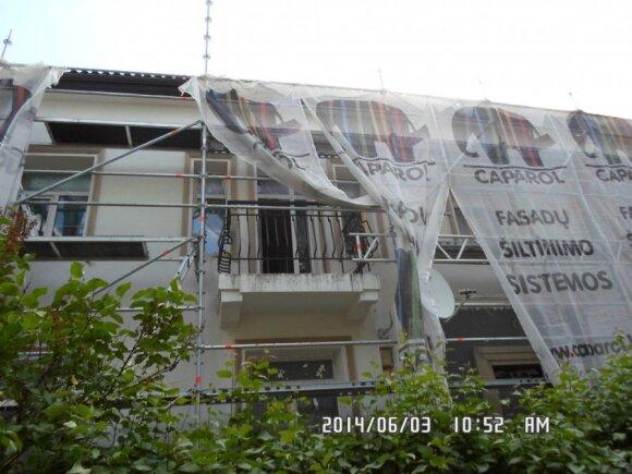 Atgimimo g. 29 namas taip atrodė prieš renovacijos pabaigą