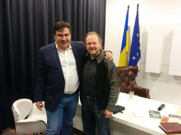 Ramūnas Bogdanas ir Micheilas Saakašvilis