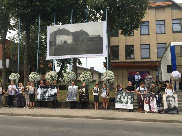 Memorial march in Molėtai