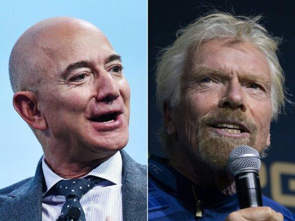 J. Bezos ir R. Bransonas nėra astronautai, nors į kosmosą ir pakilo.
