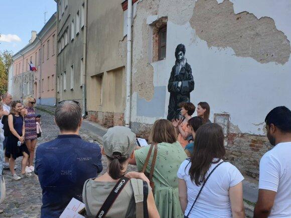 Vilniaus senamiestyje atidengtas ketvirtas kūrinys, menantis Žydų kvartalo istoriją