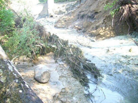 Sugriuvus Krekenavos užtvankai gamtai buvo padaryta labai didelė žala/ A. Gailiušio nuotr.
