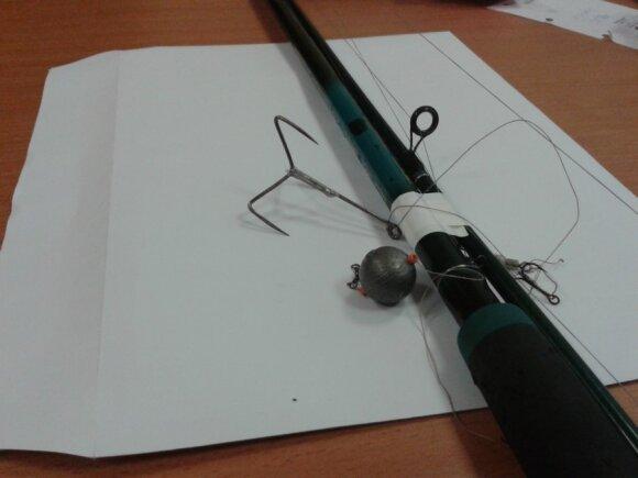 Konfiskuotas draudžiamas žvejybos įrankis