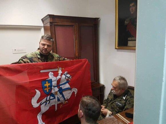 Дариуш Литвинович с флагом