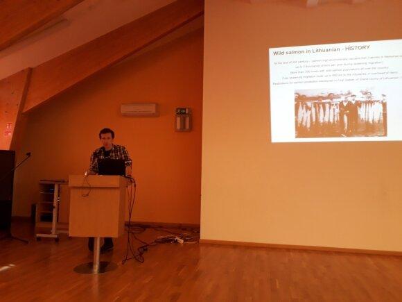 Konferencijos apie užtvankų ateitį Lietuvoje akimirka