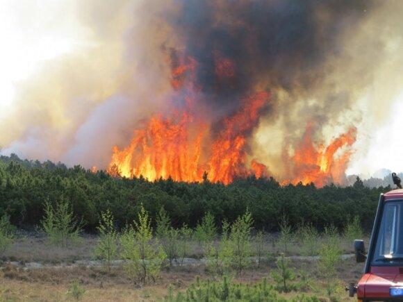 Kuršių nerijoje ugnis sustabdyta, bet baimė liko