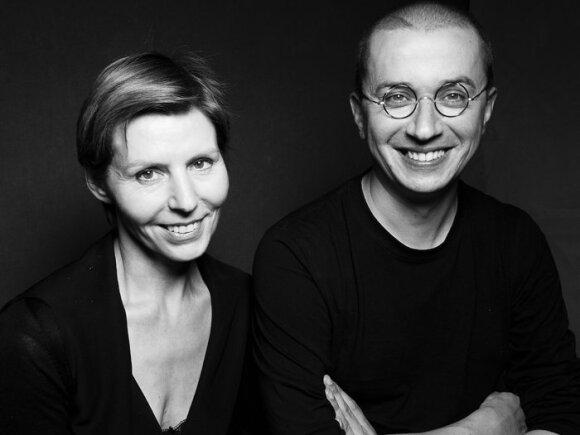Vida Simanavičiūtė su kolega Aleksandu Pogrebnojumi