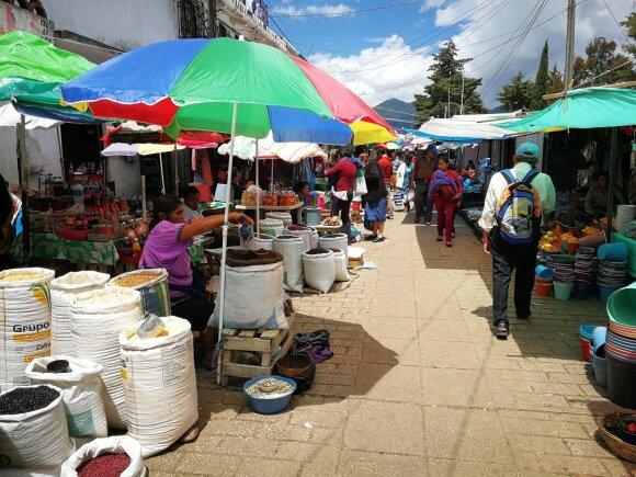 Ypatinga Meksikos kultūra: čia tylos ir šviesoforų su žiburiu nerasite