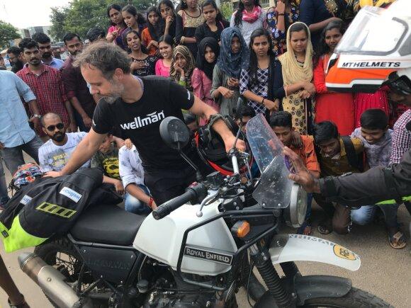Karolis Mieliauskas Indijoje