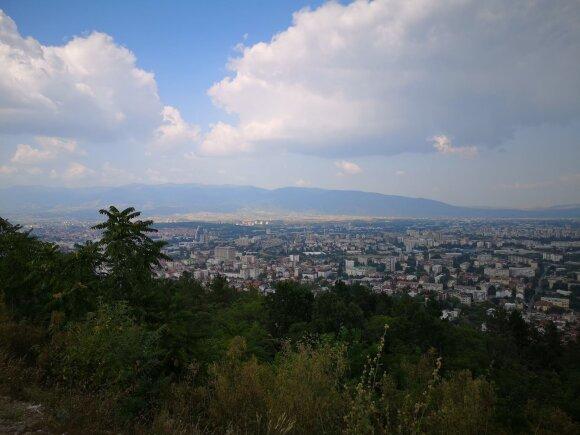 Skopjės panorama.
