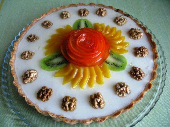 Gaivus varškės tortas su paslaptimi