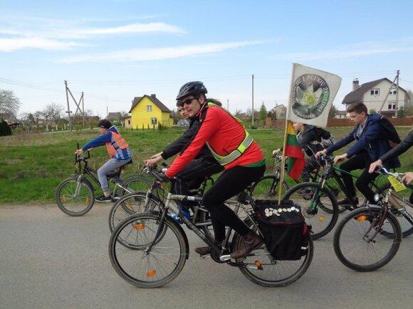 Dalius Nešukaitis dviračių žygyje