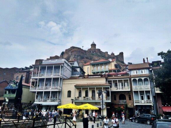 Tradicinė Tbilisio architektūra geriausiai pastebima senamiestyje