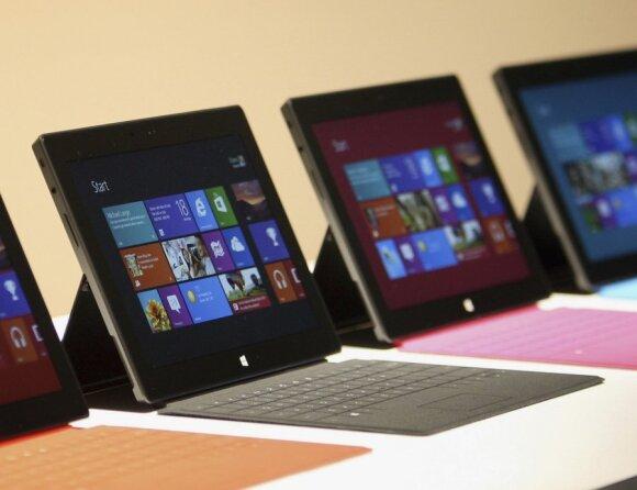"""""""Microsoft Surface"""" planšetiniai kompiuteriai"""
