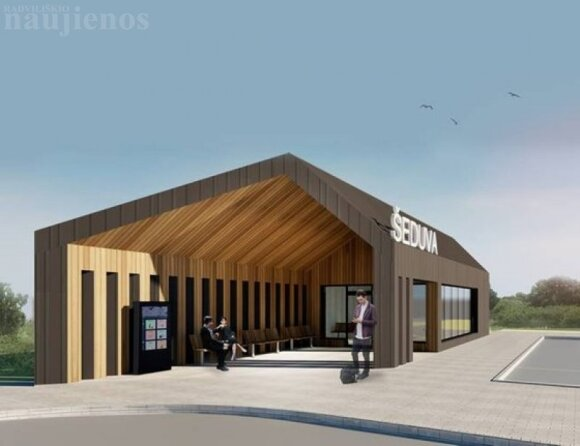 Pristatyti Šeduvos autobusų stoties projektiniai pasiūlymai